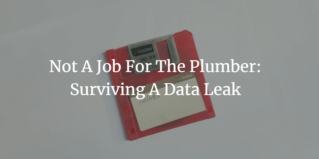 Not A Job For The Plumber: Surviving A Data Leak - Diversified Finances